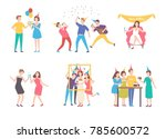 collection of people... | Shutterstock .eps vector #785600572