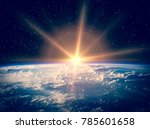 spectacular view of earth from... | Shutterstock . vector #785601658