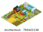 composition of modern farm... | Shutterstock . vector #785602138