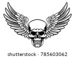 Grim Reaper Skull With Wings...