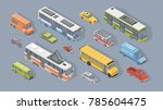 collection of isometric motor... | Shutterstock .eps vector #785604475