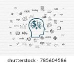 marketing concept  painted blue ... | Shutterstock . vector #785604586