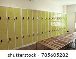 lockers in the athlete's room. | Shutterstock . vector #785605282