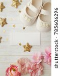 close up of baby shoes | Shutterstock . vector #785606296