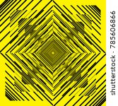 black on yellow abstract... | Shutterstock .eps vector #785606866