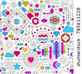 seamless pattern with abstract... | Shutterstock .eps vector #785611228