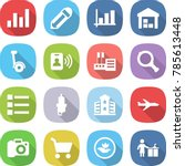 flat vector icon set   graph... | Shutterstock .eps vector #785613448