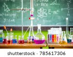 science experiments in... | Shutterstock . vector #785617306
