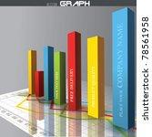 vector 3d graph | Shutterstock .eps vector #78561958