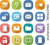 flat vector icon set   shop... | Shutterstock .eps vector #785621986