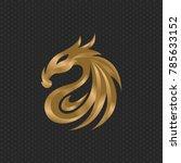 dragon logo design template ... | Shutterstock .eps vector #785633152