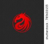 dragon logo design template ... | Shutterstock .eps vector #785633155