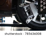 closed up of an auto wheel that ... | Shutterstock . vector #785636008