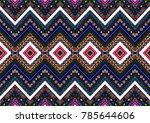 geometric folklore ornament.... | Shutterstock .eps vector #785644606