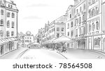 old town   illustration sketch | Shutterstock . vector #78564508