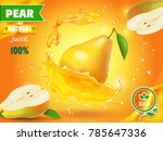 pear juice advertising with... | Shutterstock .eps vector #785647336
