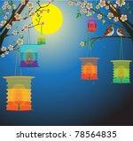 full moon background for... | Shutterstock .eps vector #78564835