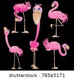 flamingos cartoons | Shutterstock .eps vector #78565171