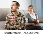 mature mother quarrelling with... | Shutterstock . vector #785651998