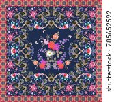 beautiful carpet with luxury... | Shutterstock . vector #785652592