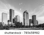 skyline of houston in bright... | Shutterstock . vector #785658982