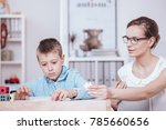 professional teacher trying to...   Shutterstock . vector #785660656