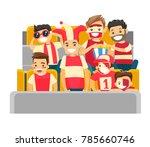 caucasian white sport... | Shutterstock .eps vector #785660746