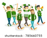 group of caucasian white happy... | Shutterstock .eps vector #785660755