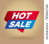 hot sale arrow tag sign. | Shutterstock .eps vector #785661766