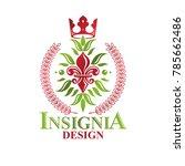 heraldic coat of arms... | Shutterstock .eps vector #785662486