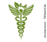 caduceus symbol composed with... | Shutterstock .eps vector #785664136