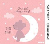 cute teddy bear animal on the... | Shutterstock .eps vector #785671192