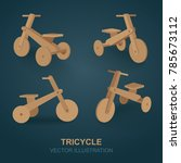 kids bicycles set. tricycles...   Shutterstock .eps vector #785673112