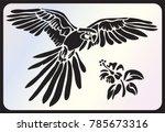 stencil for laser cutting.... | Shutterstock .eps vector #785673316