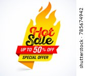 hot sale banner  special offer | Shutterstock .eps vector #785674942