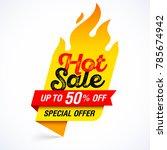 hot sale banner  special offer | Shutterstock .eps vector #785674942