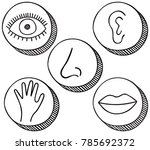 hand drawn icons containing... | Shutterstock .eps vector #785692372