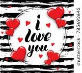 i love you template for banner...   Shutterstock .eps vector #785692642