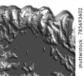 dark grey abstract 3d wave... | Shutterstock .eps vector #785693602