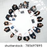view from the top.meeting... | Shutterstock . vector #785697895
