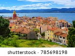 colorful historical old town of ... | Shutterstock . vector #785698198