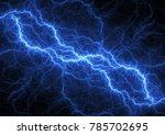 blue lightning bolt  plasma and ... | Shutterstock . vector #785702695