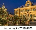 christmas market ... | Shutterstock . vector #785704078