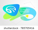ecological company use of... | Shutterstock .eps vector #785705416