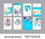 set of creative universal... | Shutterstock . vector #785705656