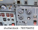 airplane pilot's cockpit with... | Shutterstock . vector #785706052