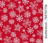 snowflakes decorative seamless...   Shutterstock . vector #785707756