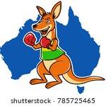 australian boxing kangaroo | Shutterstock .eps vector #785725465