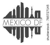 mexico df america skyline...   Shutterstock .eps vector #785727145