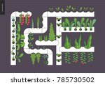urban farming  gardening or... | Shutterstock .eps vector #785730502
